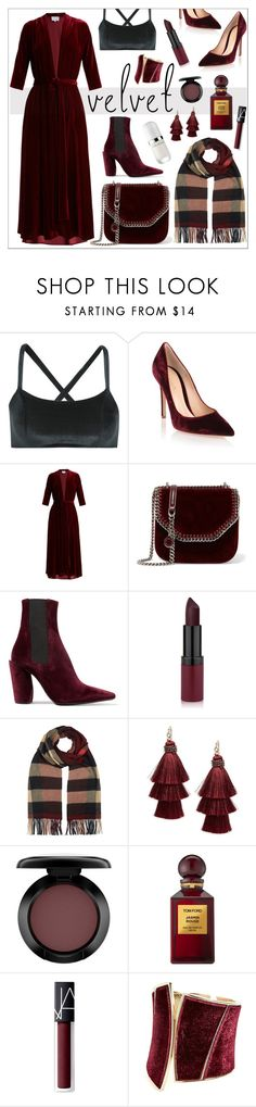 """Crush on Velvet"" by cherieaustin ❤ liked on Polyvore featuring Lisa Marie Fernandez, Gianvito Rossi, LUISA BECCARIA, STELLA McCARTNEY, Jil Sander, Burberry, Design Lab, MAC Cosmetics, Tom Ford and NARS Cosmetics"