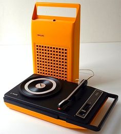 Portable record player. Our version of the iPod! Surprisingly mine was turquoise!