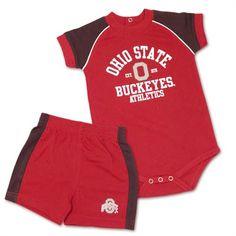 Buckeye Baby Shirt & Shorts Set #ohiostate #buckeyes #baby #toddler Ohio State Baby, Ohio State Logo, Baby Shirts, Buckeyes, Baby & Toddler Clothing, Shorts, Swimwear, Kids, Clothes