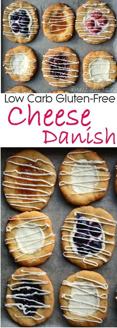 Low Carb Cheese Danish (as little as 3 net carbs!) - Use regular mozzarella and substitute cream cheese for soft goat cheese.