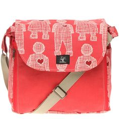 Pepper Tree | Nappy Bag for Girls in Masala Doll and Hearts - Baby Travel - kinderelo.co.za