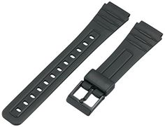 Voguestrap TX1852 Allstrap 18mm Black Regular-Length Fits Casio and Other Sport Watchband