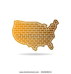 223 Best Usa Vector Maps Images In 2019 City Logo Blue Prints Cards - Us-map-logo