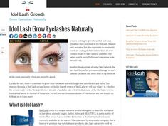 Idol Lash is the latest innovation in cosmetic science. It is the purest and least irritating eyelash stimulating and conditioning product available-safe for even the most sensitive eyes.  http://www.idollashgrowth.com/  #idollash #longerlashes #groweyelashes