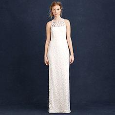 Pamela gown in Leavers lace