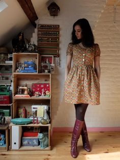 Robe Sureau modifiée par Tassadit  Sureau dress by Deer and Doe (modified)
