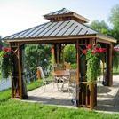 Gazebos en bois de cèdre toit rigide - Gloriettes - Pavillons - Abris Soleil - Abris de Spa -