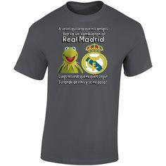 Rana Rene Real Madrid T Shirt Real Madrid, Spanish Humor, Mens Tops, Cotton, T Shirt, Stuff To Buy, Supreme T Shirt, Tee Shirt, Tee