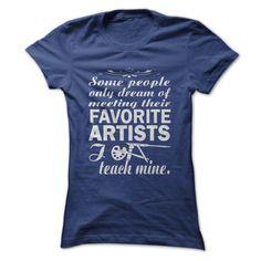 Art Teacher T-Shirts, Hoodies. GET IT ==► https://www.sunfrog.com/LifeStyle/Art-Teacher-56894120-Ladies.html?id=41382