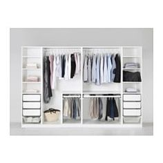 Discover the IKEA PAX wardrobe series. Design your own PAX wardrobe inside and out, from door styles, to shelves, to interior organizers and more. Pax Corner Wardrobe, Ikea Pax Wardrobe, Walk In Wardrobe, Bedroom Wardrobe, Walk In Closet, White Wardrobe, Ikea Wardrobe Storage, Ikea Pax Closet, Teen Closet