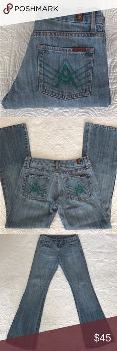 "7 For All Mankind Jeans 7 For All Mankind jeans size 28. Ride 8"", waist 30, inseam 32. 7 For All Mankind Jeans"