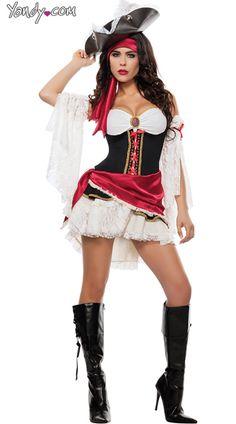 Pirate Matey Costume, Black Pirate Costume