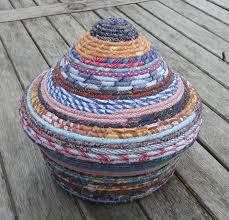 Image result for coiled fabric baskets