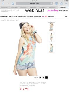 The Little Mermaid at Wet Seal Disney Love, Wet Seal, The Little Mermaid, Cute Outfits, Classy, Tops, Dresses, Style, Pretty Outfits