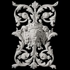 Onlays come in a large variety of sizes and designs. Onlays are used in ceilings, walls, cabinetry, and most every design that demands detail. Onlays most popular uses are for cabinet doors and in wall panel designs. Pearlworks has many concept drawings Pillar Design, Wall Panel Design, House Trim, French Walls, Lion Art, Wall Molding, Italian Renaissance, Victorian Art, Art Reference Poses