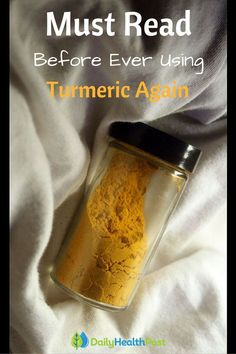 """Turmeric is gaining in popularity and for good reason! The yellow pigment found in turmeric, which is also responsible for the majority of its medicinal properties is called """"curcumin."""" While adding turmeric to your diet is a sure way to boost your overall health, there are a few things you need to know about.This is a Must Read Before Ever Using Turmeric Again! #superfood"""