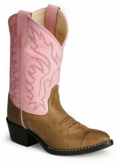 9a1153b0bee Old West Girls  Pink Corona Calfskin Cowgirl Boots