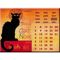 Chat Web, Cat Calendar, Fiction, Make Me Happy, Plaque, France, Black People, Perpetual Calendar, Objects