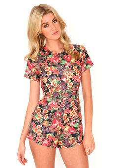 The Styling Up stylists recommend: missguided: Cosette Flower Print Playsuit