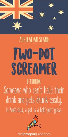Aussie Slang Funny - Australian Slang - two pot screamer Funny Quotes For Teens, Funny Quotes About Life, Surfs Up, Smash Book, Funny Videos, Australian Slang, Australian English, Poorly Drawn Lines, Australian Expressions