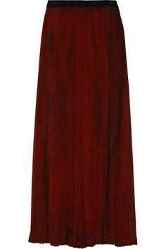 ENZA COSTA Crinkled-chiffon maxi skirt