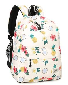 School Bookbags for Girls, Cute casual lightweight Pineap. School Bookbags for Girls, Cute casual lightweight Pineapple Backpack College Bags Women Daypack Travel Bag by Mygreen (Beige) Cute Cheap Backpacks, Cute Backpacks For School, Girl Backpacks, Canvas Backpacks, Mochila Jansport, Laptop Backpack, Backpack Bags, Fashion Backpack, Floral Backpack