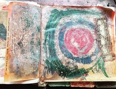 Making My Own Constellations #artjournal #visceraljournal #studio #paint #slowstitching