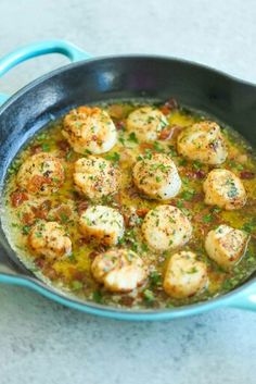 bacon-scallops-with-garlic-butter-sauce