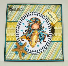 Fairy Stamp Land: Focal Friday's ~ Tiddly Inks NEW STAMP Release ~ Wryn The Mermaid