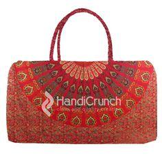 Mandala red travel bag Online Bags, Travel Bag, Handicraft, Mandala, Handbags, Tote Bag, Red, Stuff To Buy, Craft