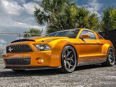 orange Mustang Shelby | Mustang Shelby GT500 Super Snake-6