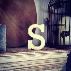 Hand painted decorative wooden letter S - available in various finishes.  ALL LETTERS ARE AVAILABLE - INCLUDING AMPERSAND!  Very decorative item - adds interest to any room - these letters make a real statement.  These beautiful letters are free-standing - so perfect for a shelf or windowsill. I also have wall letters available!  Available in sizes 10cm, 12cm, 15cm, 20cm, 25cm, 28cm and 30cm.  I work with lots of major leading brands of paint, including Laura Ashley, Farrow & Ball, Valspar…