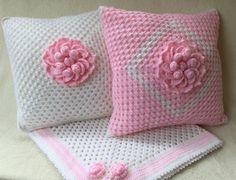 Decorative pillow Crochet pillow nursery decorecrochet