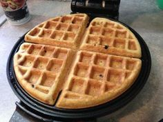 Almond Flour Waffles- KJ sub ripe banana for 1 egg, sub maple syrup in place of honey, added a dash of cinnamon - came out fantastic! Made two big Belgian waffles. Almond Flour Waffles, Almond Flour Recipes, Pancakes And Waffles, Keto Pancakes, Almond Meal, Fluffy Pancakes, Keto Waffle, Waffle Iron, Waffle Recipes