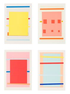 IMI KNOEBEL Untitled, 1996 Suite of 4 color lithographs with hand-stencil printing 24 x 16 in. / 61 x 40.6 cm. each Edition of 60