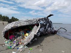 "<p>""Listen to the dead whale's wake-up call,"" Greenpeace Philippines writes on their Facebook page about the great whale, ""look closer and see what plastic pollution does to the ocean.""</p>"