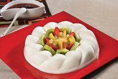 Gelatina de yoghurt natural y fruta