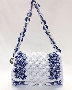 "New Cheap Bags. The location where building and construction meets style, beaded crochet is the act of using beads to decorate crocheted products. ""Crochet"" is derived fro Free Crochet Bag, Crochet Purse Patterns, Filet Crochet, Knit Crochet, Crotchet Bags, Knitted Bags, Crochet Handbags, Crochet Purses, Unique Purses"