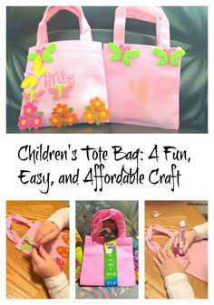 This adorable tote bag craft is a must-do with your children or grandchildren!  Fun, easy, and affordable!