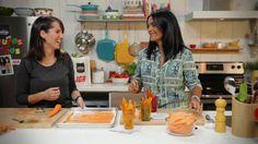 Minutes futées : 7. Chips de carottes et de patates douces Like Chocolate, Good Food, Fun Food, Veggies, Appetizers, Snacks, Meals, Cooking, Recipes