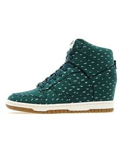 NikeDunk Sky Hi dark atomic green