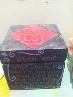 Prayer boxes make wonderful gifts.  Use for any occasion you might normally send a greeting card.