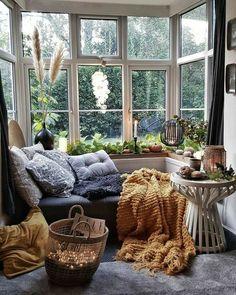Living Room Decor, Bedroom Decor, Cozy Eclectic Living Room, Cozy Living Rooms, Living Spaces, Bohemian Interior, Bohemian Decor, Bohemian House, Gypsy Decor