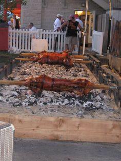 Germanfest, Milwaukee, Wi. Pig Roast.