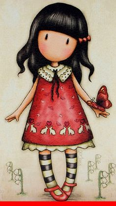 Gorjuss Cute Images, Cute Pictures, Cute Characters, Cute Dolls, Cute Illustration, Doll Face, Stone Painting, Rock Art, Easy Drawings