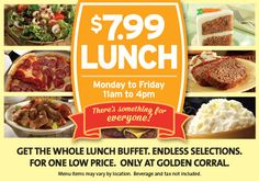image regarding Coupon for Golden Corral Buffet Printable named 34 Great Golden Corral Coupon codes visuals inside of 2014 Golden corral