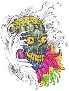 Find gifts for him at The Skull Man Zazzle. This and many other skull designs on t-shirts, wallets, laptop sleeves etc.