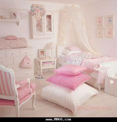 صورة غرفة اطفال جيلة للبنوتات يغلب عليها اللون البينك