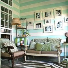 love the wall color and stripes!