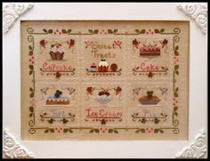 Sweet Treats by Country Cottage Needleworks - also on to-do list. Have patterns and thread packs. need fabric